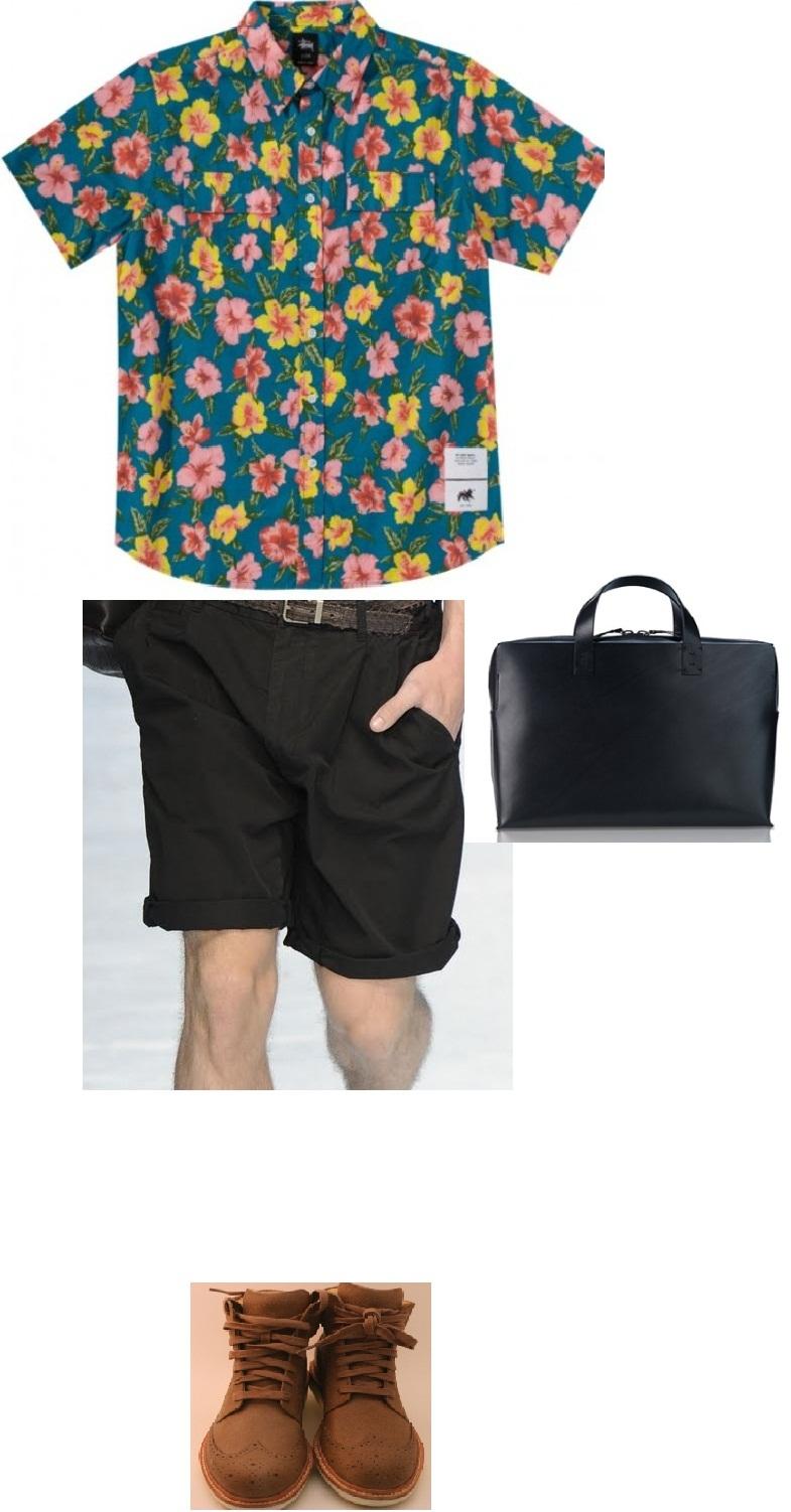 Fashionero Hawaiian Explorer Summer Look for Men 2012