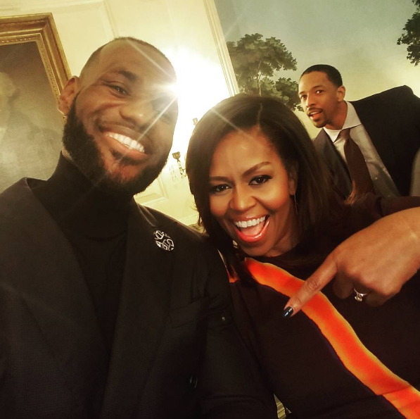 LeBron James, Michelle Obama