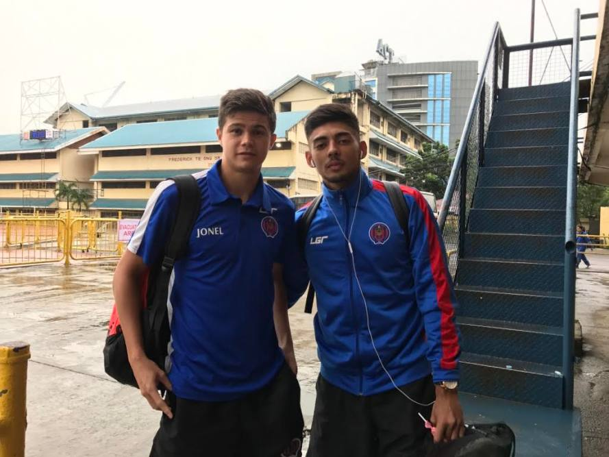 Davao Aguilas FC players Jordan Jarvis and Dylan De Bruycker leaving Cebu for Cambodia, to join 5 other Davao Aguilas FC players who were called up for the AFC U23 Champions China 2018 Qualifiers.
