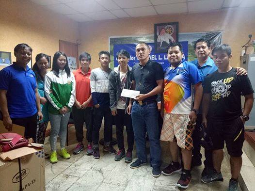Baguio City Councilor Michael Lawana with Cordilleran fighters and coaches