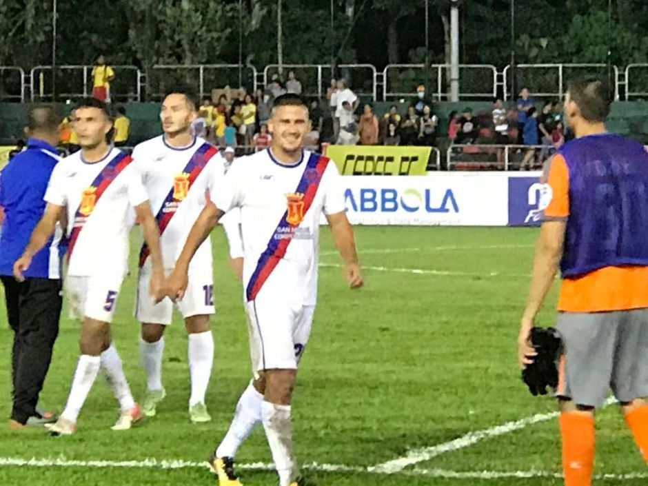 Matthew Hartmann debuts as a Davao Aguilas FC player at Panaad Stadium in Bacolod City.