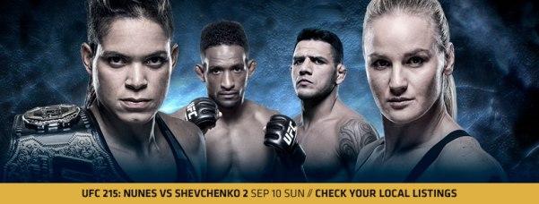 Amanda Nunes, Neil Magny, Rafael dos Anjos, Valentina Shevchenko (UFC/Facebook)