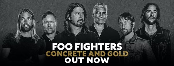 Taylor Hawkins, Nate Mendel, Dave Grohl, Pat Smear, Chris Shiflett, Rami Jaffee (Foo Fighters/Facebook)