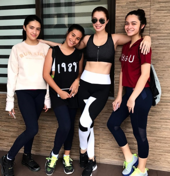 Samantha Angeline Montano, Angel Francheska Montano, Sunshine Cruz, Angelina Cruz (Sunshine Cruz/Instagram)