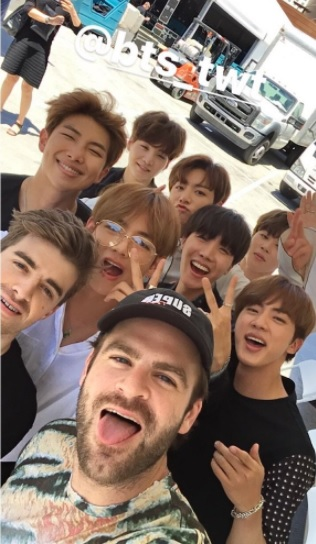 The Chainsmokers, BTS (The Chainsmokers/Twitter)