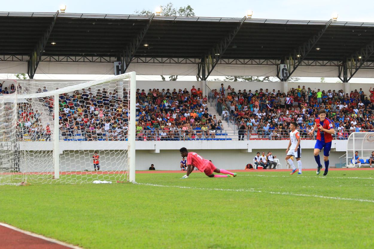 Davao Aguilas FC's Harrison Sawyer does a hat trick and leads the team to its second straight victory.