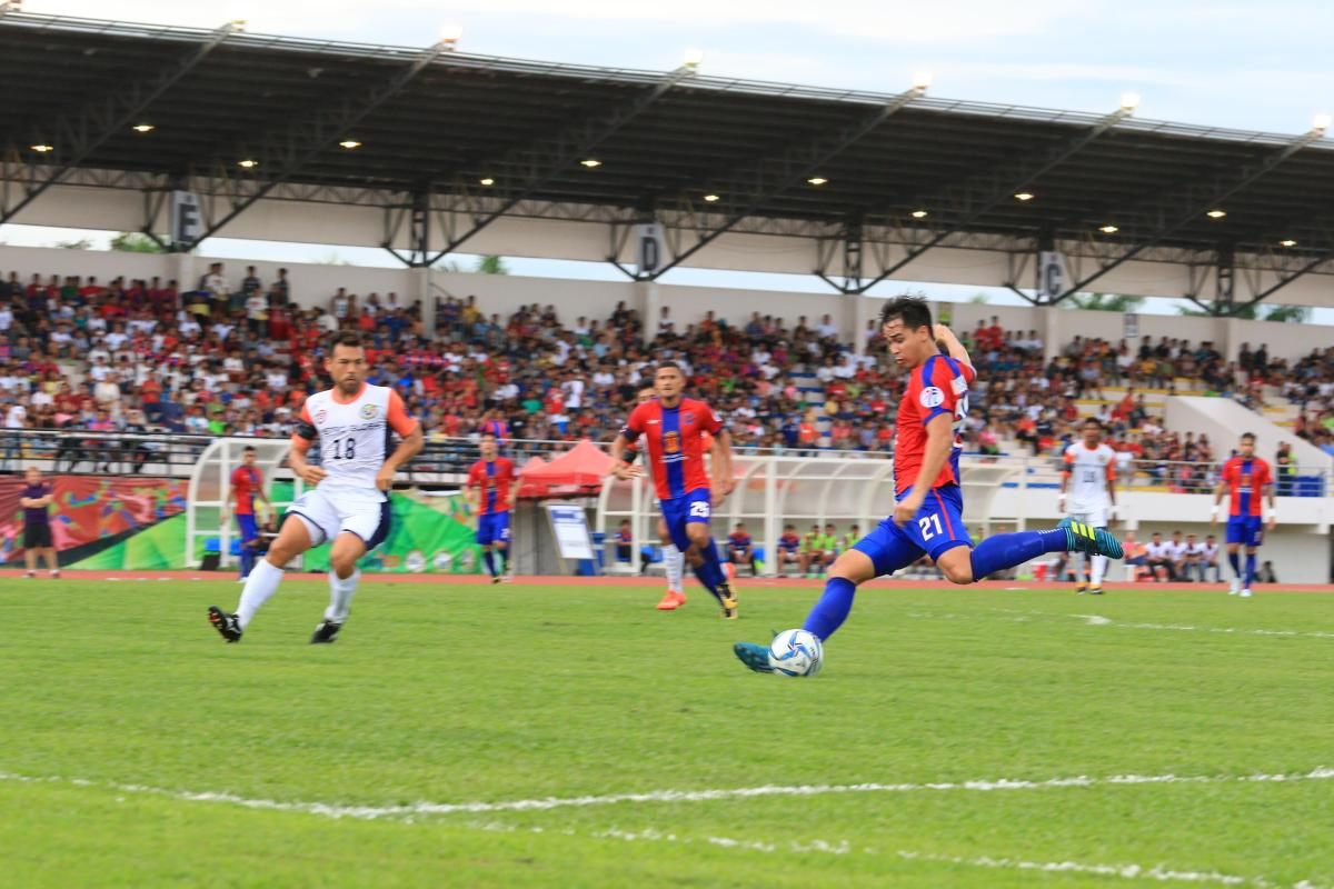 Davao Aguilas FC tests its mettle against Ilocos United FC, keeps clean sheet with 2-0 score