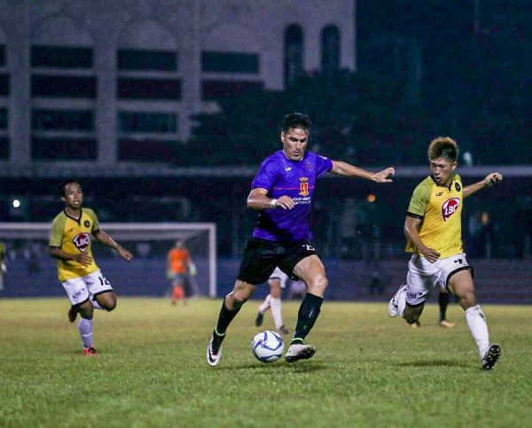 Davao Aguilas FC's Angel Guirado got two goals for the team and was named Man of The Match.