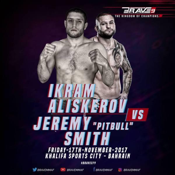 "Ikram Aliskerov, Jeremy ""Pitbull"" Smith"