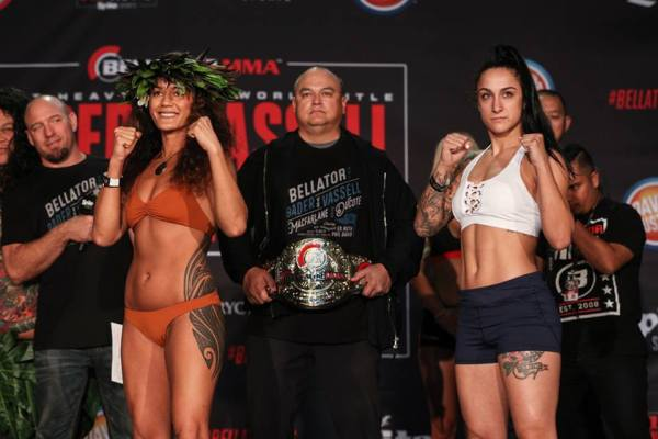 Ilima-Lei Macfarlane, Emily Ducote (Facebook/Bellator MMA)