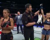 Joanna Jedrzejczyk, John McCarthy, Rose Namajunas (YouTube/UFC- Ultimate Fighting Championship)