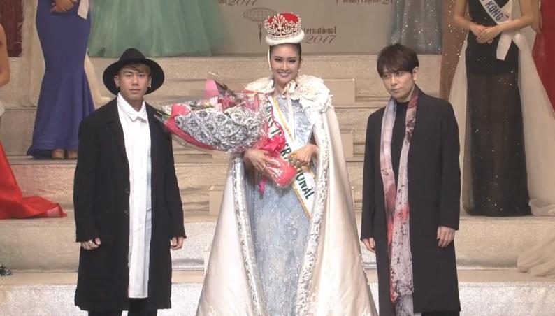 Kaname Kawabata, Miss International 2017 Kevin Lilliana, Yoshikuni Dōchin