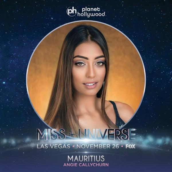 Miss Mauritius Angie Callychurn
