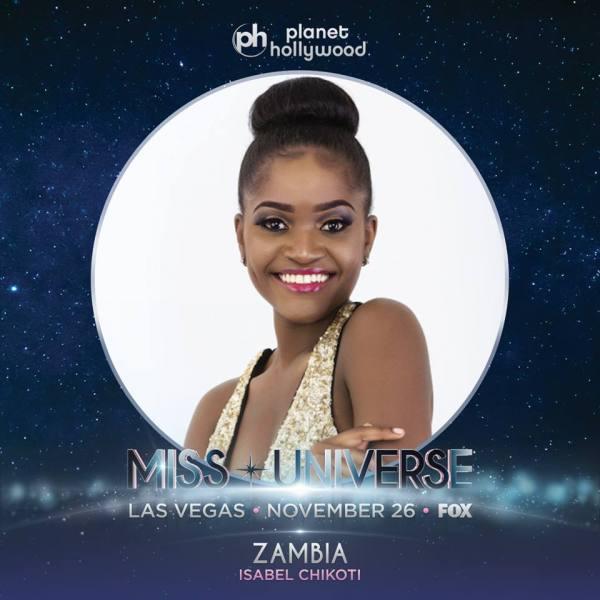 Miss Zambia Isabel Chikoti