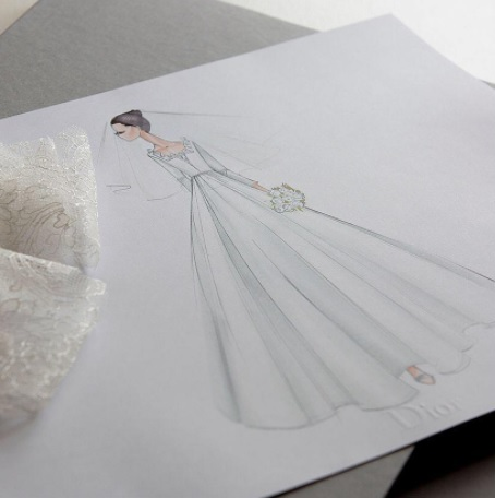 Song Hye Kyo's wedding dress (Instagram/Dior)