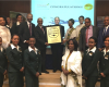 Mr. Tewolde GebreMariam, Group CEO of Ethiopian Airlines Receiving SkyTrax Four Star Airline Award