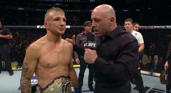 TJ Dillashaw, Joe Rogan (YouTube/UFC- Ultimate Fighting Championship)