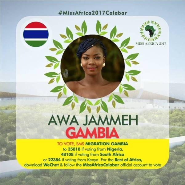 Awa Jammeh(Facebook/MISS Africa)