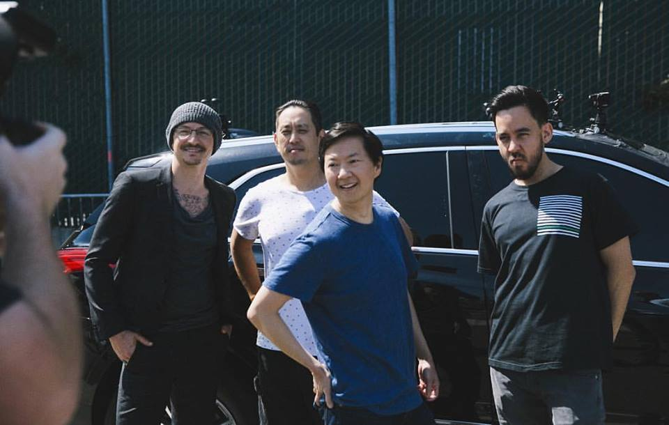 Chester Bennington, Joe Hahn, Ken Jeong, Mike Shinoda (Facebook/Linkin Park)