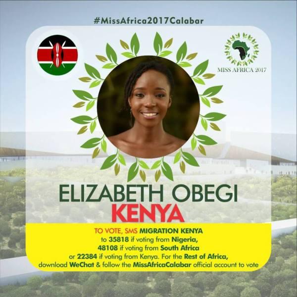 Eliza Obegi(Facebook/MISS Africa)
