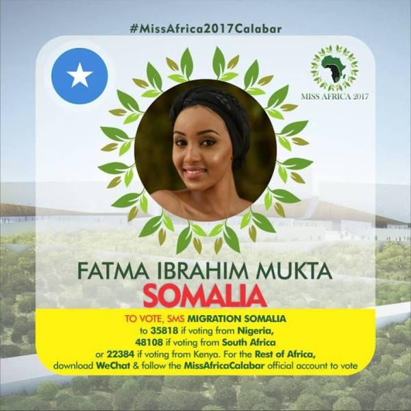 Fatma Ibrahim Mukhta(Facebook/MISS Africa)