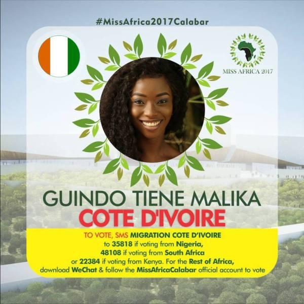 Guindo Tiene Malika(Facebook/MISS Africa)