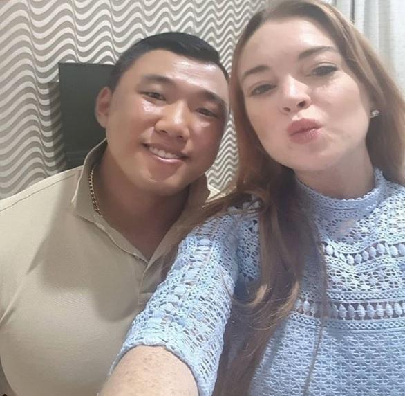 Je Yong Ha, Lindsay Lohan (Instagram/Je Yong Ha)