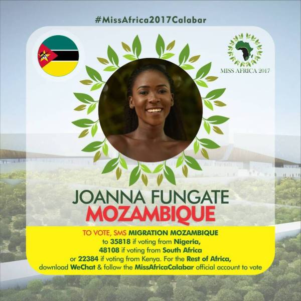 Joanna Fungate(Facebook/MISS Africa)