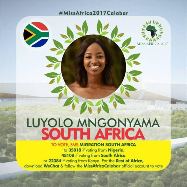 Luyolo Mngonyama(Facebook/MISS Africa)