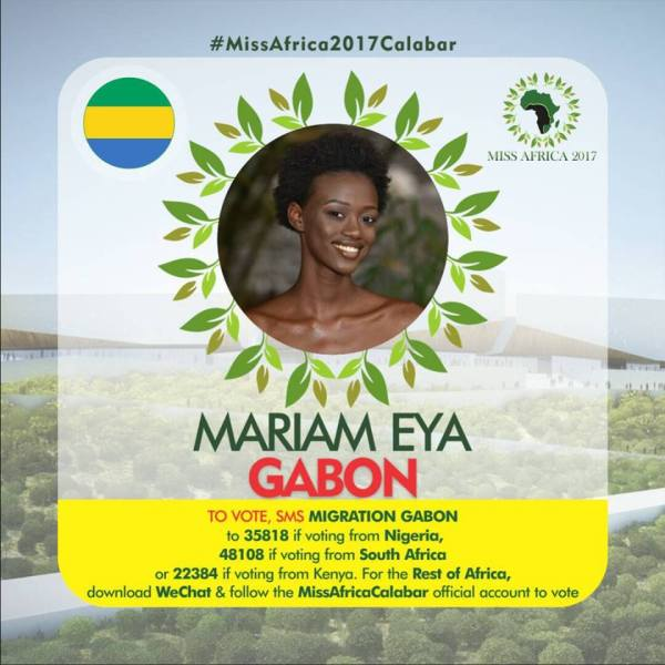 Mariam Eya(Facebook/MISS Africa)