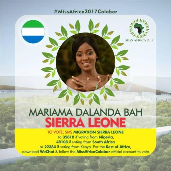 Mariama Dalanda Bah(Facebook/MISS Africa)