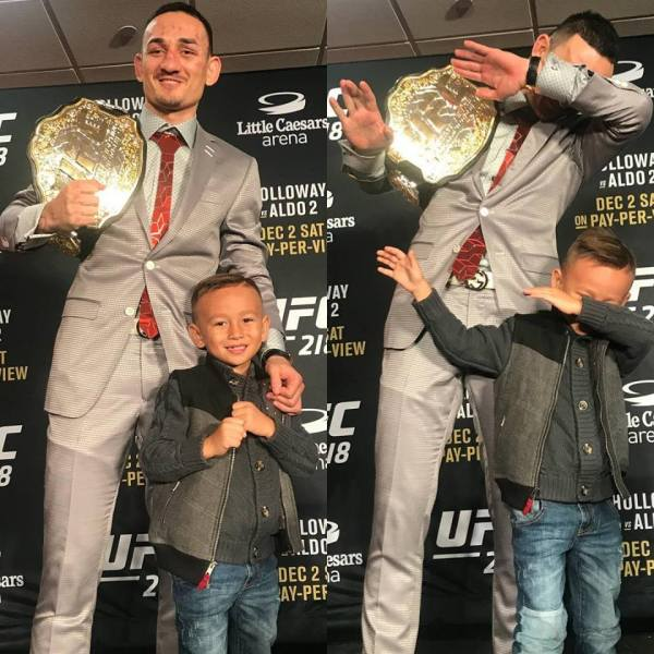 Max Holloway, Rush Holloway (Facebook/UFC)