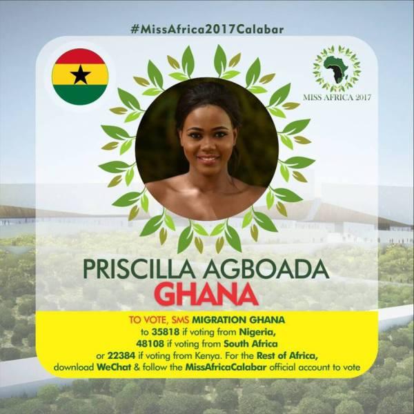 Priscilla Agboaga(Facebook/MISS Africa)