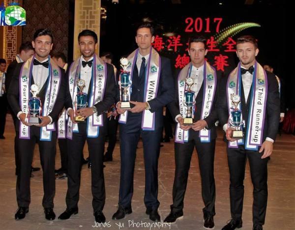 Ronald Mayorga Peixoto, Ryo Arizumi, Ermin Poturak, Marko Rogac, Geany-Daniel Zamfir (Facebook/Mister Ocean)