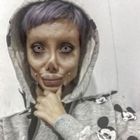 Teen Angelina Jolie zombie Sahar Tabar: Fake or real?