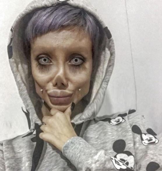 Sahar Tabar Instagram >> Teen Angelina Jolie zombie Sahar Tabar: Fake or real? – Conan Daily