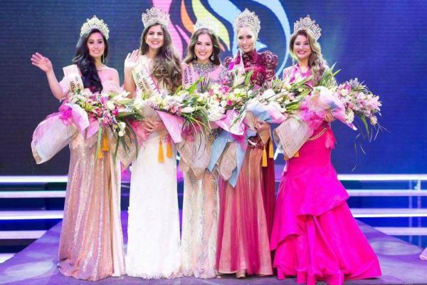 Sarah Jane Herrera Real, Laura Coltea, Phuong Le, Marsya Safia, Lorena Rosales (Facebook/Mrs. World Peace)