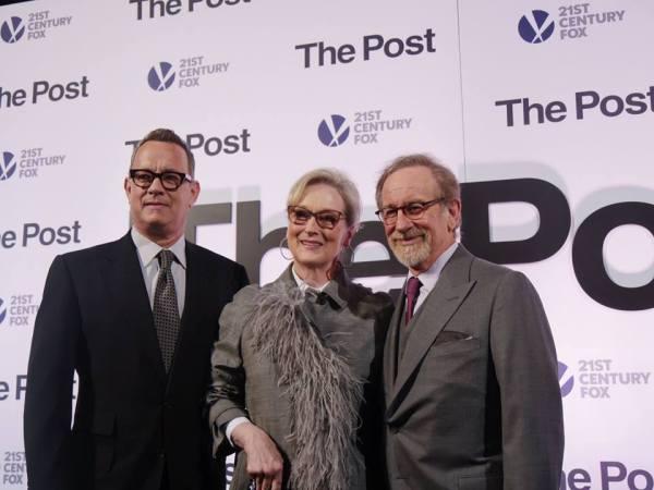 Tom Hanks, Meryl Streep, Steven Spielberg (Facebook/The Post)