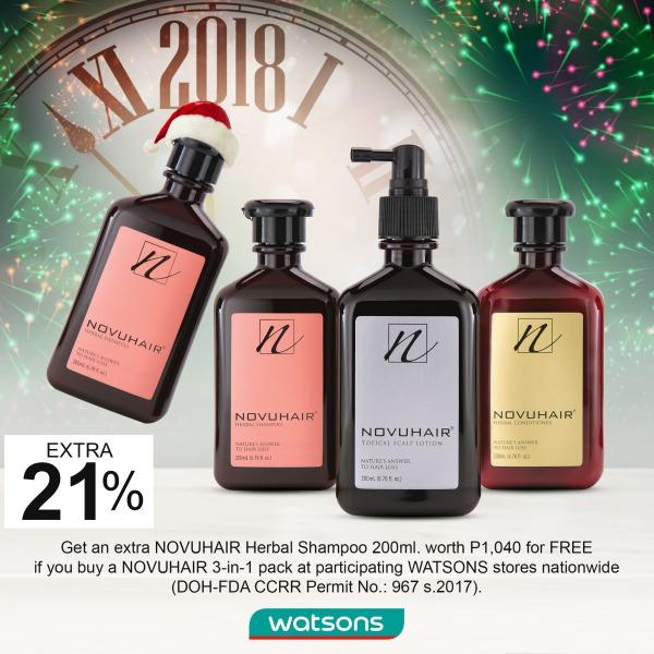 Watsons NOVUHAIR Christmas's year-end promo ad