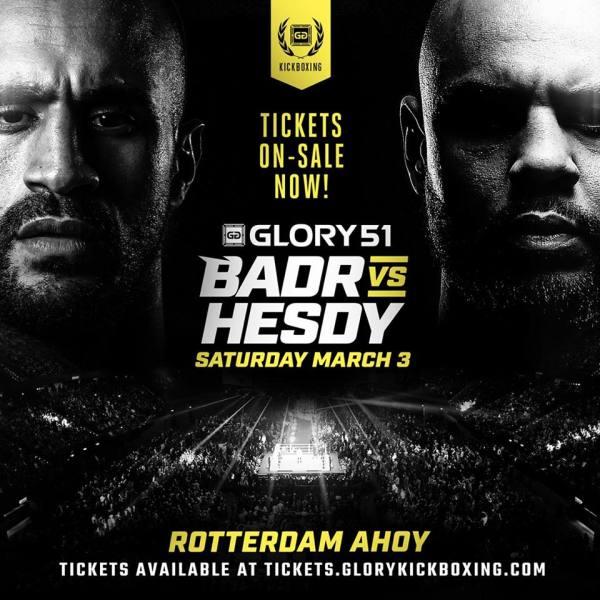 Badr Hari, Hesdy Gerges (Facebook/GLORY Kickboxing)