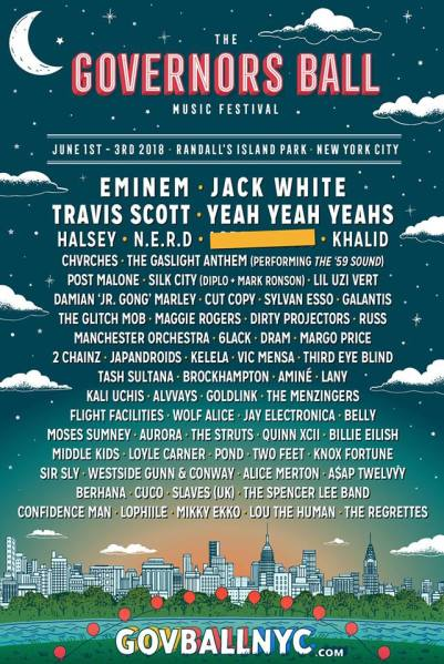 Governors Ball 2018 (Facebook/The Governors Ball Music Festival)