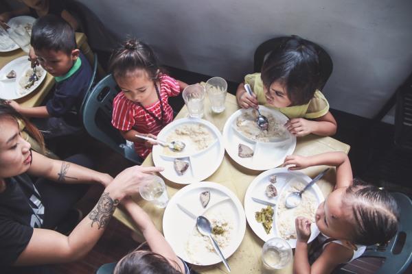 Angela Lee with Tondo kids