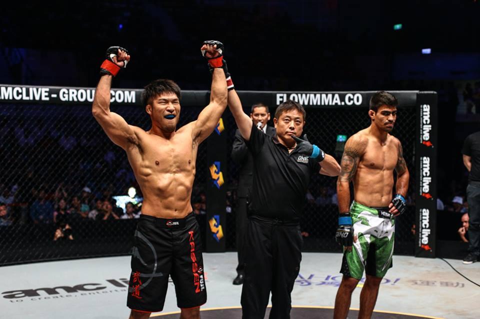 Koji Ando, Yuji Shimada, Rafael Nunes (Facebook/ONE Championship)