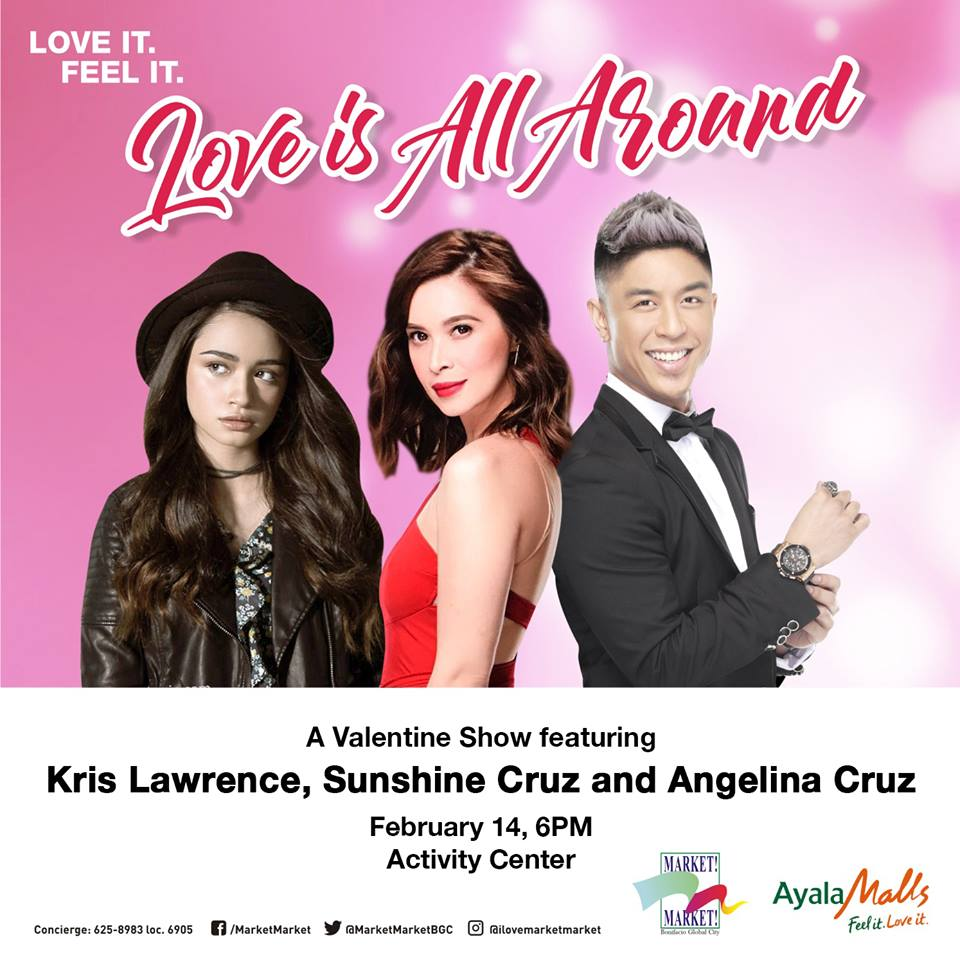 Angelina Cruz, Sunshine Cruz, Kris Lawrence (Facebook/Market Market)