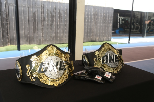 ONE Championship belts (©ONE Championship)
