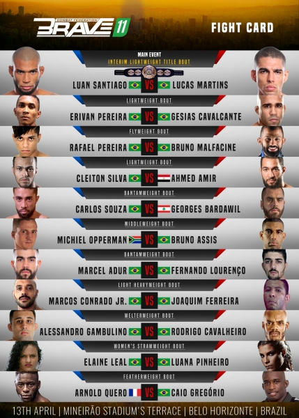 'Brave 11' fight card