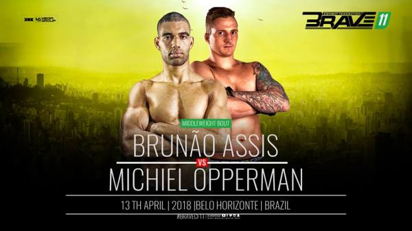 Bruno Assis, Michiel Opperman (Facebook/Brave Combat Federation)