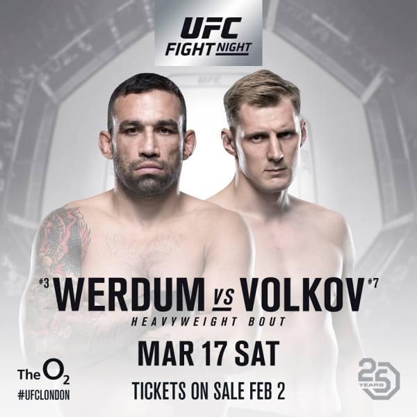 Fabricio Werdum, Alexander Volkov (Facebook/UFC)
