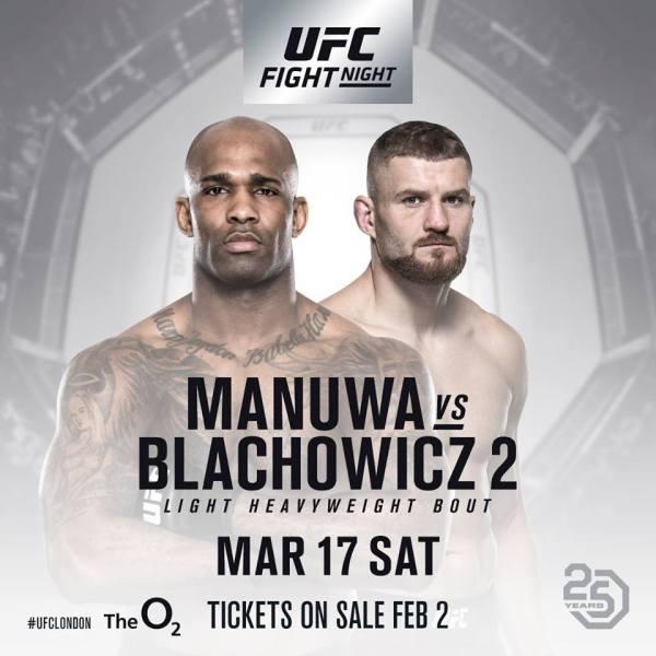 Jimi Manuwa, Jan Blachowicz (Facebook/UFC)