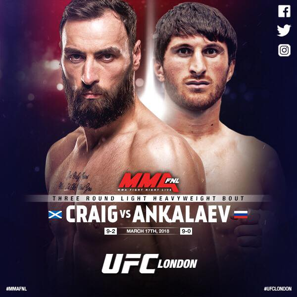 Paul Craig, Magomed Ankalaev (Facebook/MMA Fight Night Live)